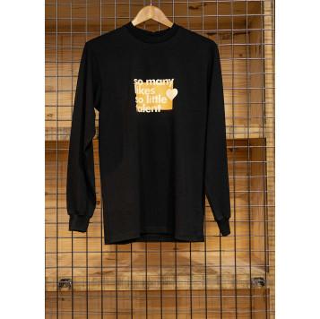"Tee-shirt manches longues ""likes"" noir"