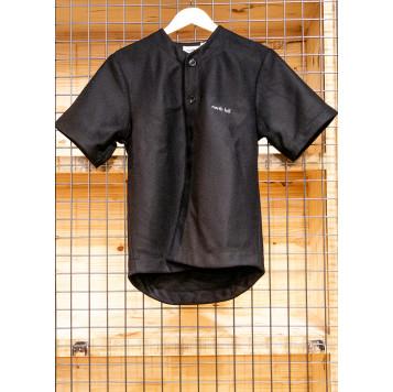 Surchemise manches courtes en laine noir