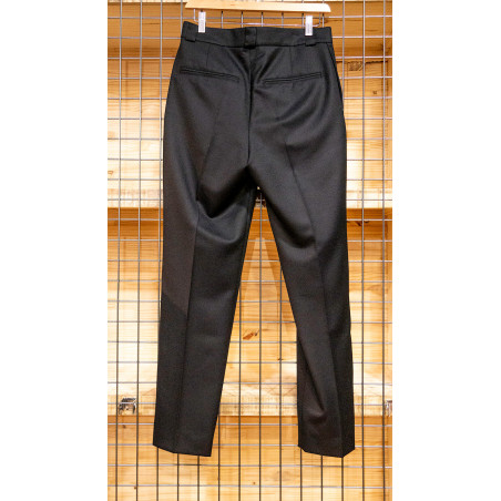 Pantalon laine fine noir